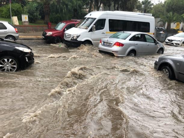 Heavy Rain in Izmir stock photo