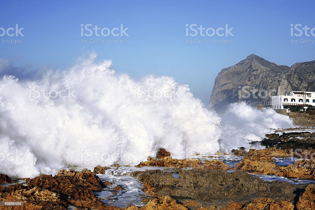 heavy seas royalty-free stock photo