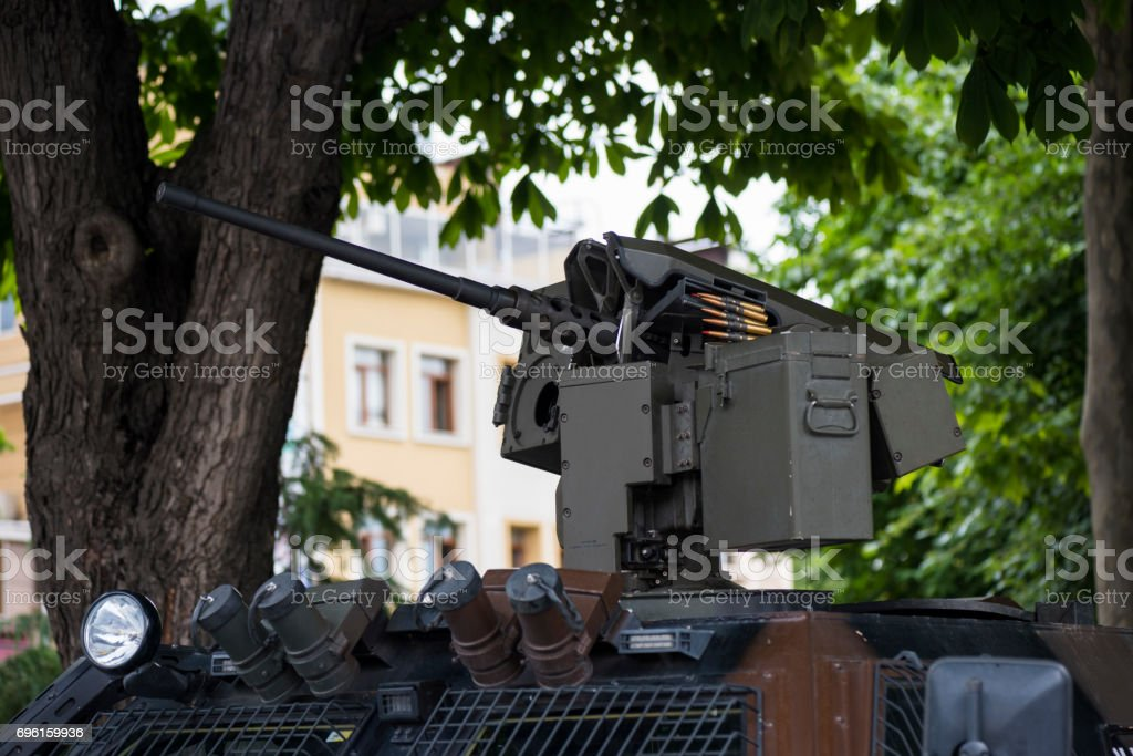 Heavy security in tourist Sultanahmet district, Istanbul, Turkey stock photo