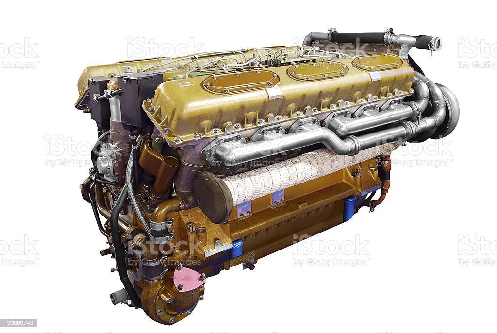 heavy tank engine royalty-free stock photo