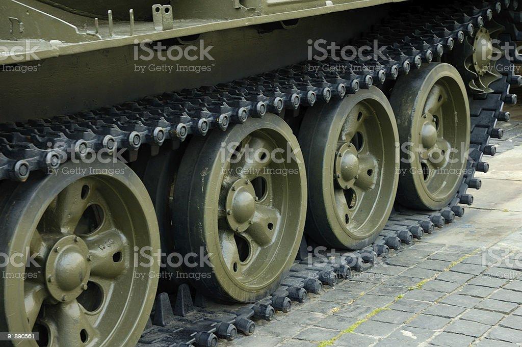 Heavy tank track royalty-free stock photo