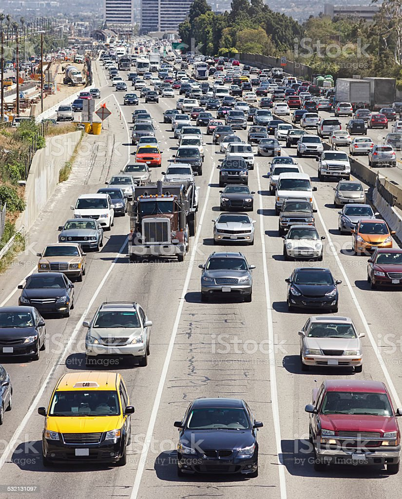 Heavy Traffic in Los Angeles stock photo