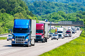 istock Heavy Traffic On The Interstate Highway 1198307085