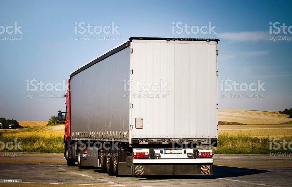 Heavy truck back view royalty-free stock photo