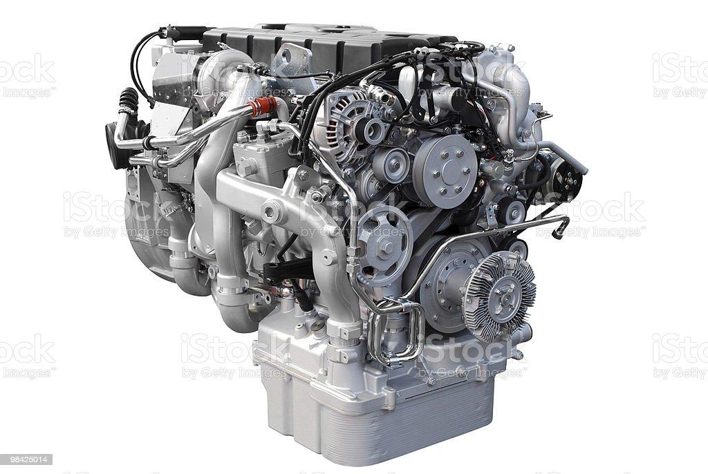 heavy truck engine isolated royalty-free stock photo