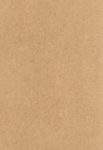 Heavy weight brown paper texture stock photo
