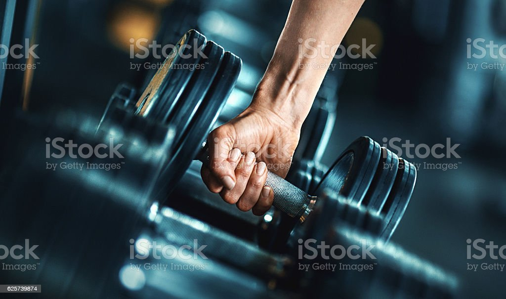 Heavy weight exercise. stock photo