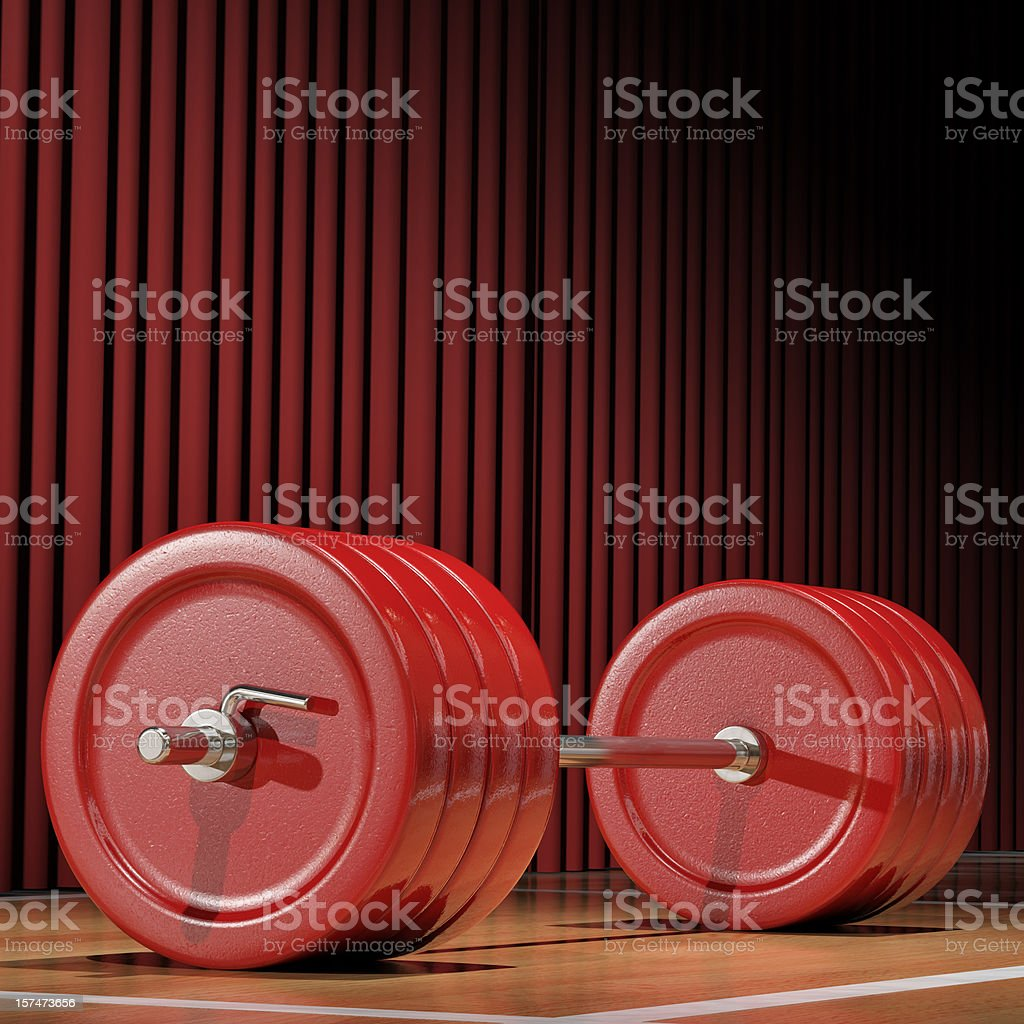 Heavy weightlifting weights waiting to be used royalty-free stock photo