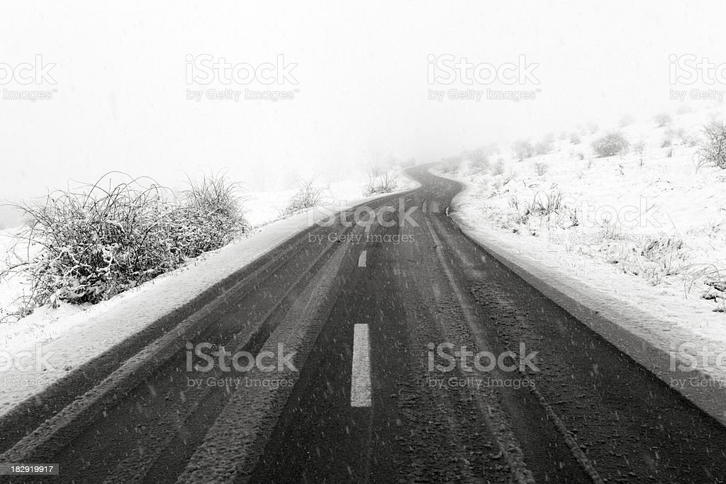 heavy white storm royalty-free stock photo