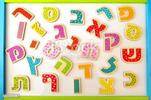 istock Hebrew alphabet 480333267