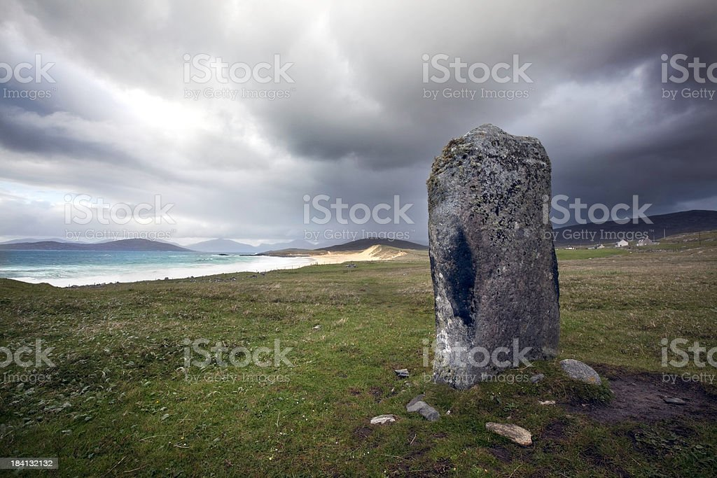 Hebrides, Scotland: Stormy skies royalty-free stock photo