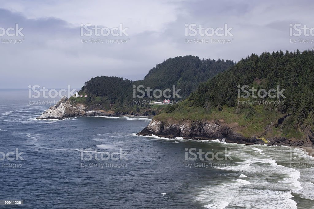 Heceta Head Lighthouse in Oregon coast royalty-free stock photo