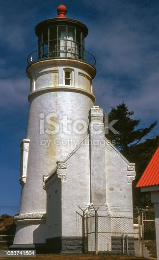 Heceta Head Lighthouse near Florence, Oregon, USA in 1995 located in Heceta Head Lighthouse State Scenic Viewpoint. National Register of Historic Places.