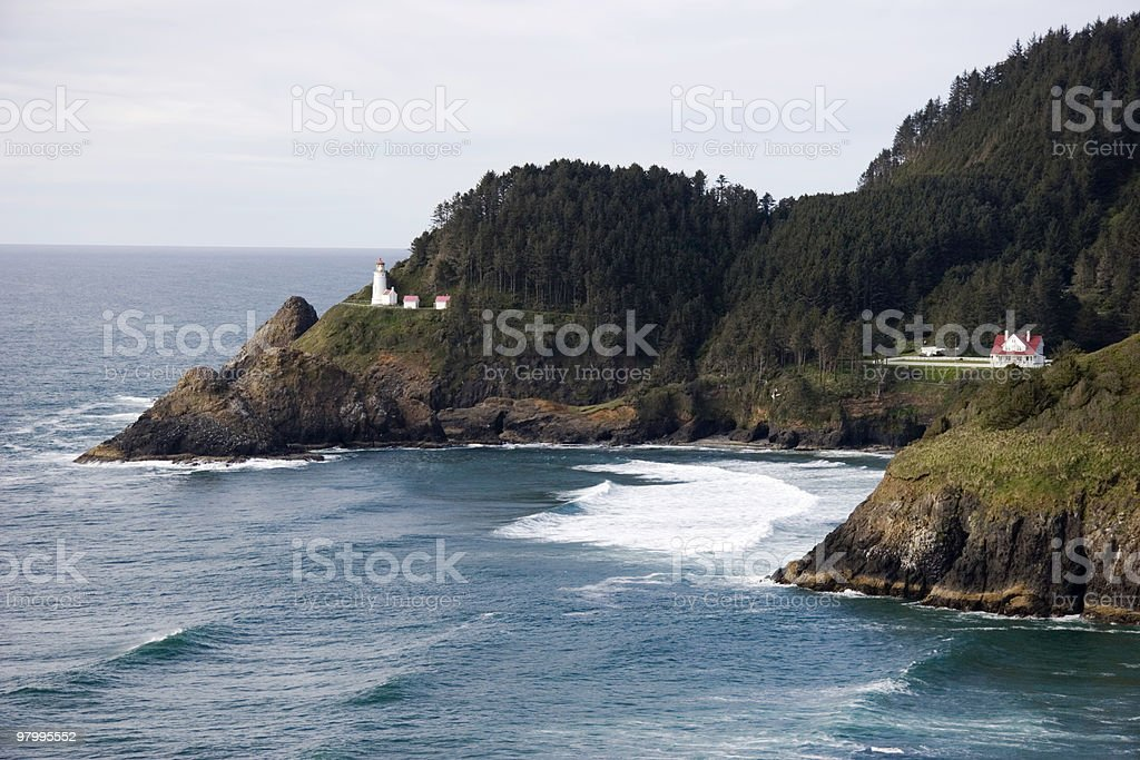 Heceta Head Lightstation royalty free stockfoto