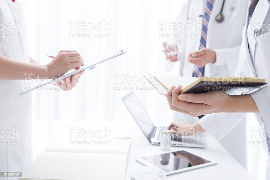 Hectic hospital stock photo