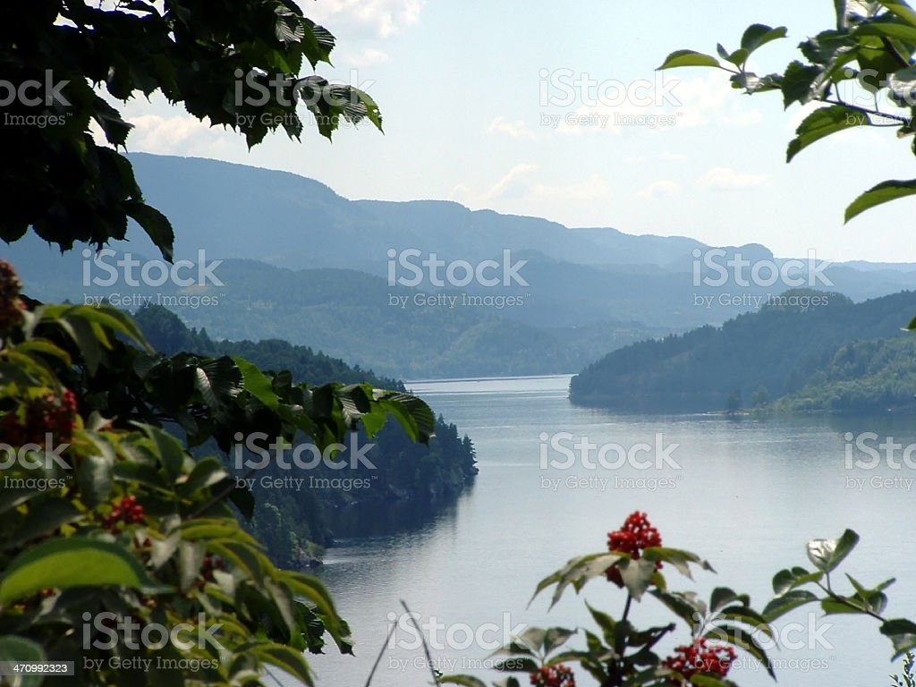 Heddal Lake royalty-free stock photo
