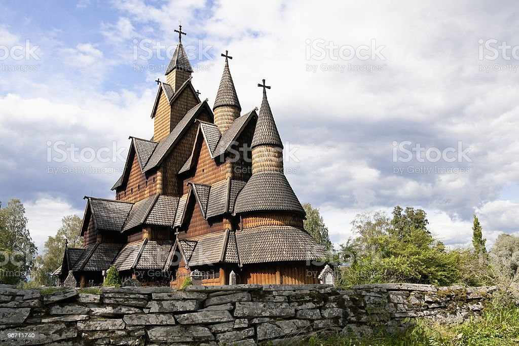 Heddal Stave Church in Norway royalty-free stock photo