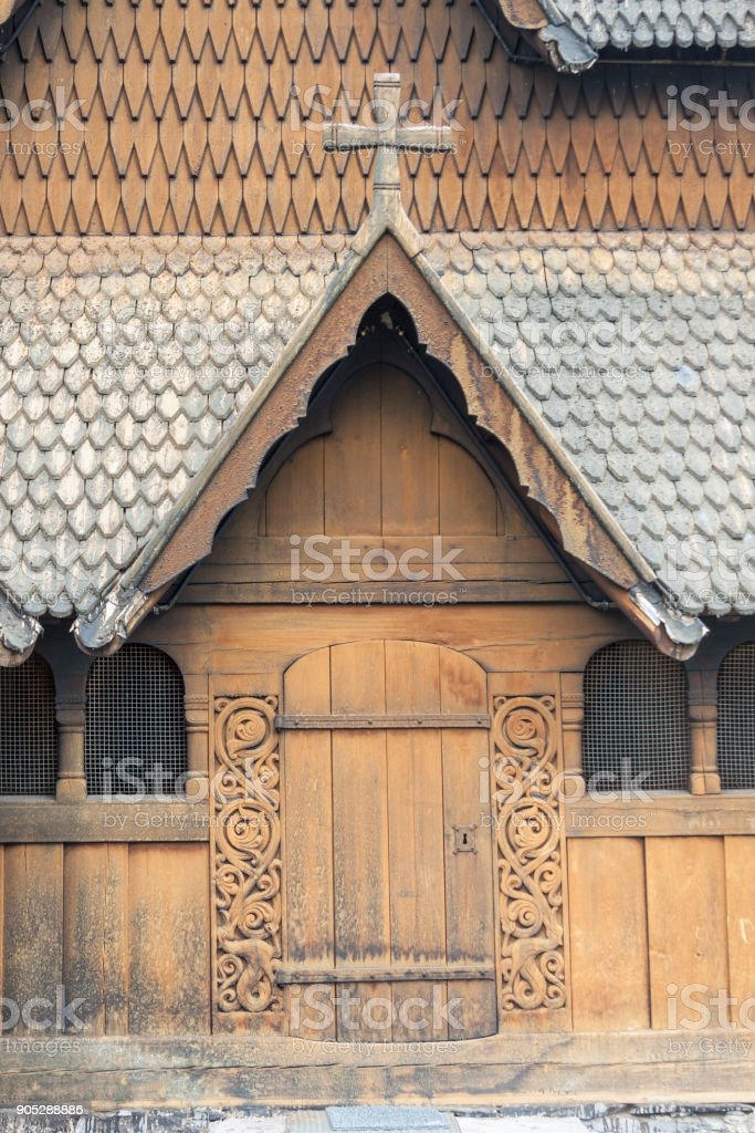 Heddal Stave Church, Norway stock photo