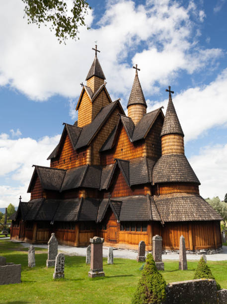 Heddal Stave Church, Notodden, Norway stock photo
