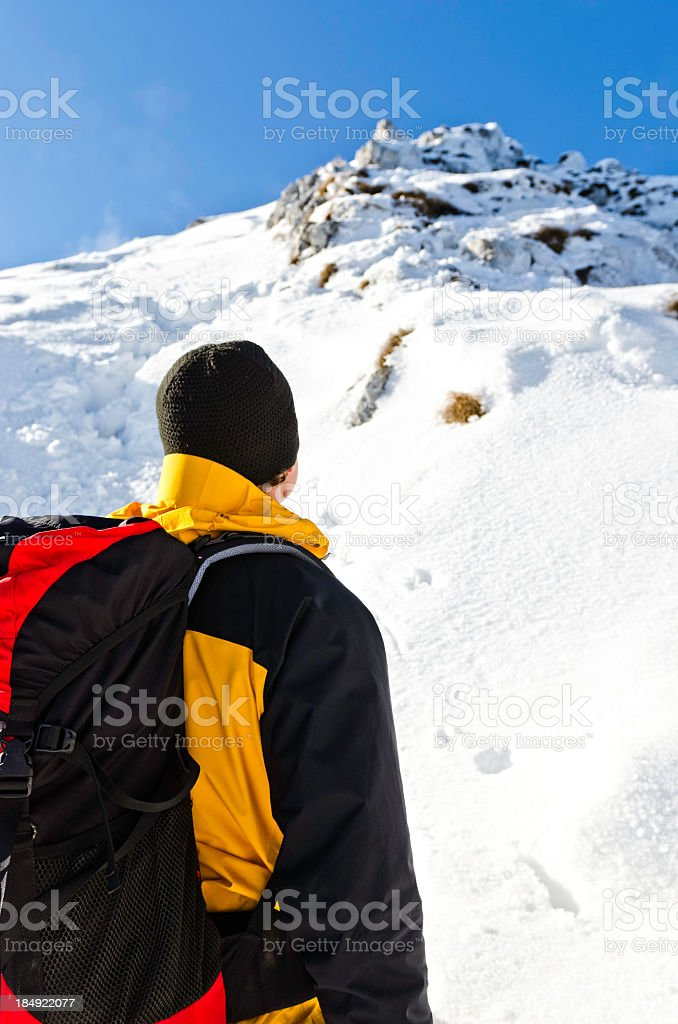 heding for the summit royalty-free stock photo