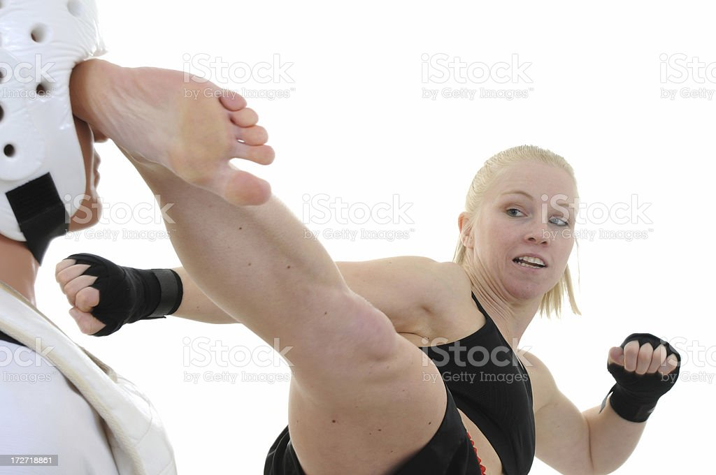 Heel to the head royalty-free stock photo