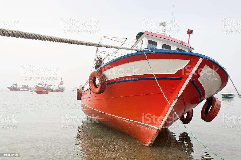 Heeled boat royalty-free stock photo