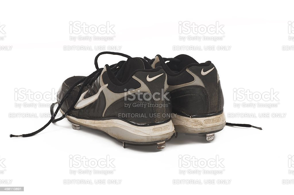 Heels of Nike Cleats stock photo
