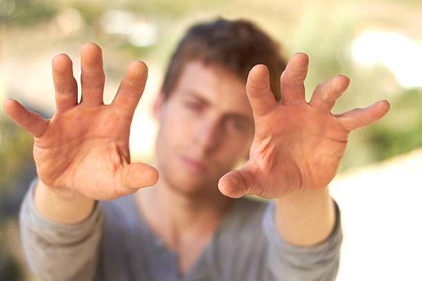 hefty hands - human limb stock photos and pictures