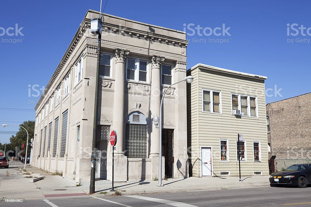 Hegewisch State Bank building, Chicago royalty-free stock photo
