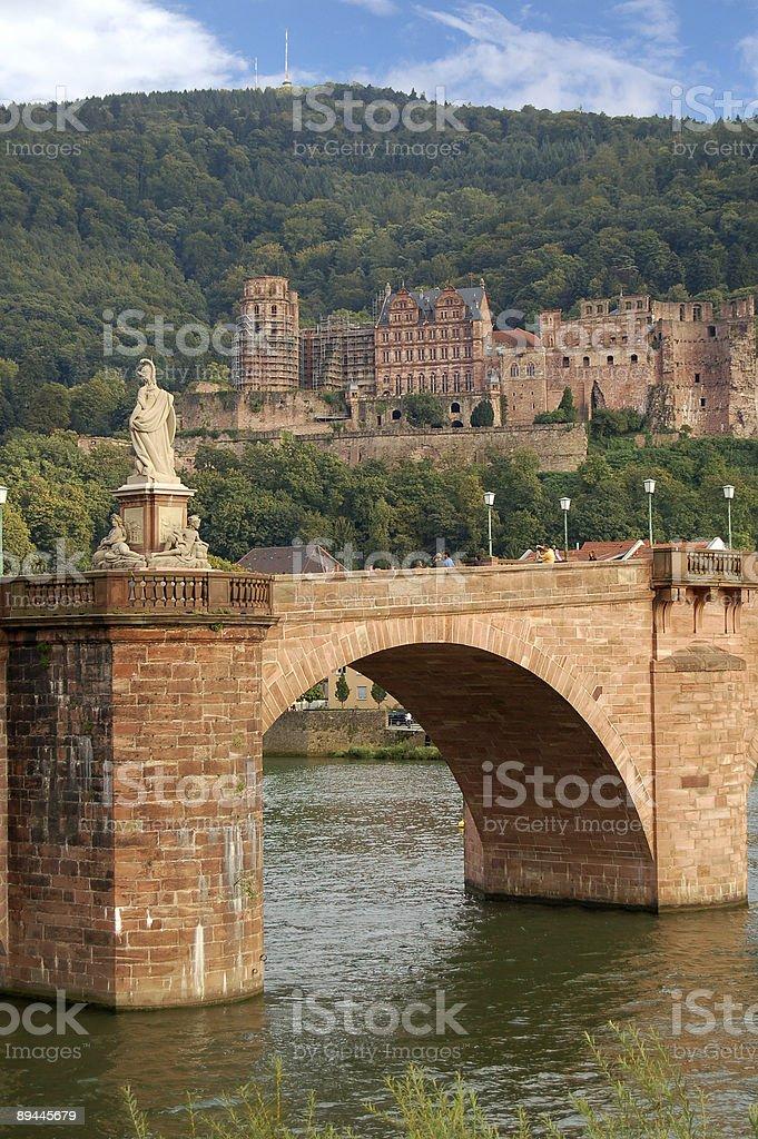 Heidelberg and brigde royalty-free stock photo