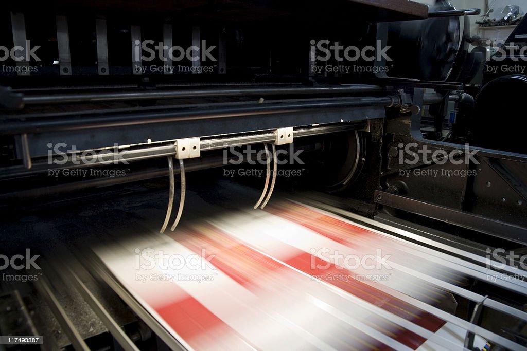 Heidelberg Cutting Machine stock photo
