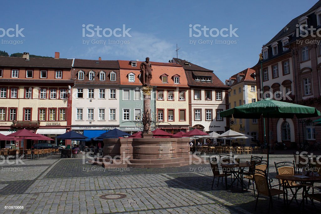 Heidelberg Germany Town Square stock photo