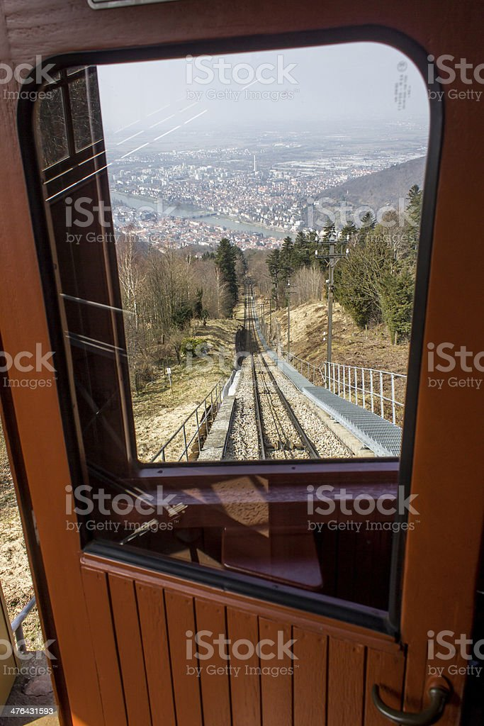 heidelberg old rack railway royalty-free stock photo
