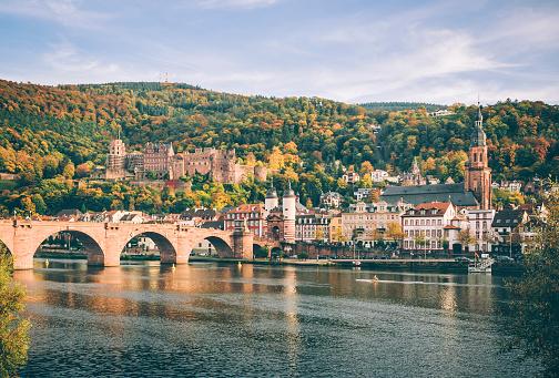 Heidelberg with the Alte Brucke in autumn