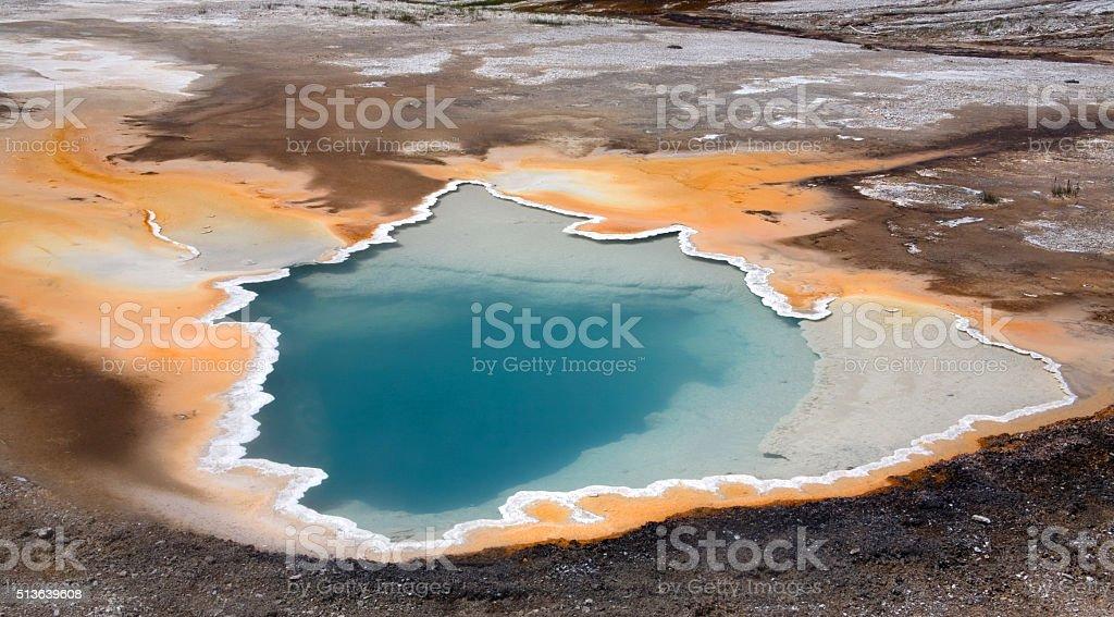 Heiße Quelle stock photo