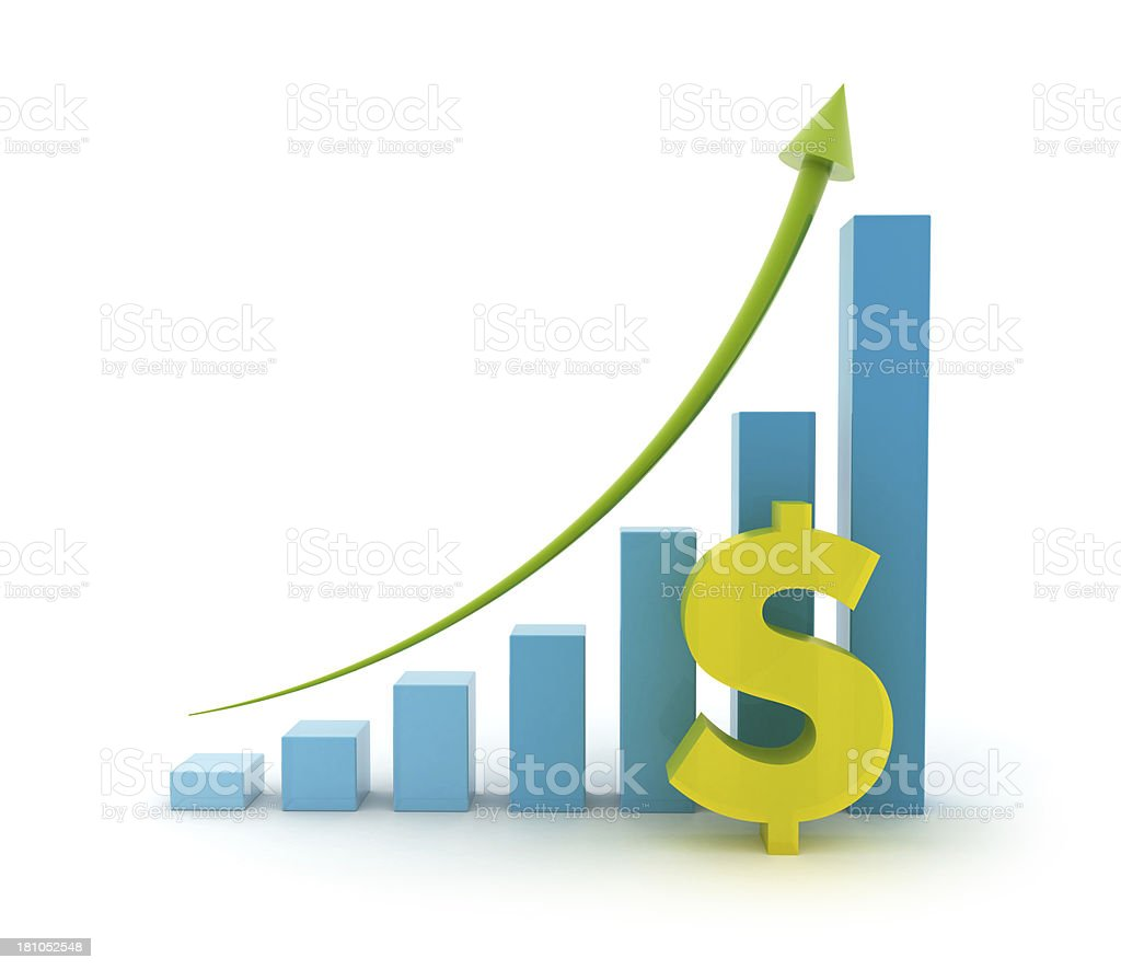 Height chart with dollar sign stock photo
