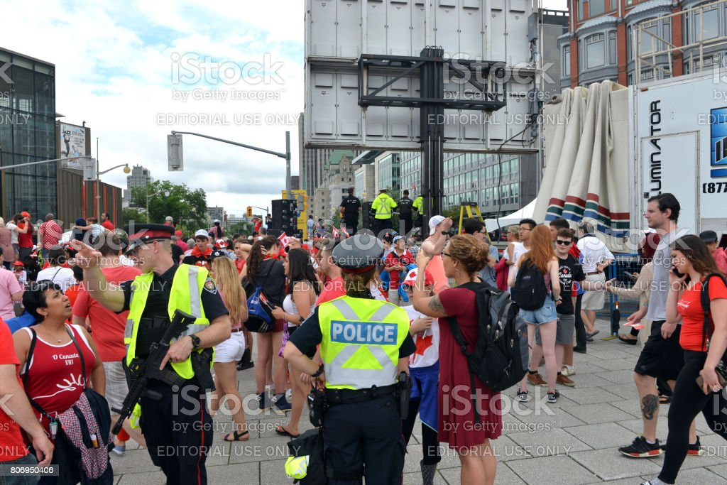 Heightened security measures for Canada Day in Ottawa stock photo