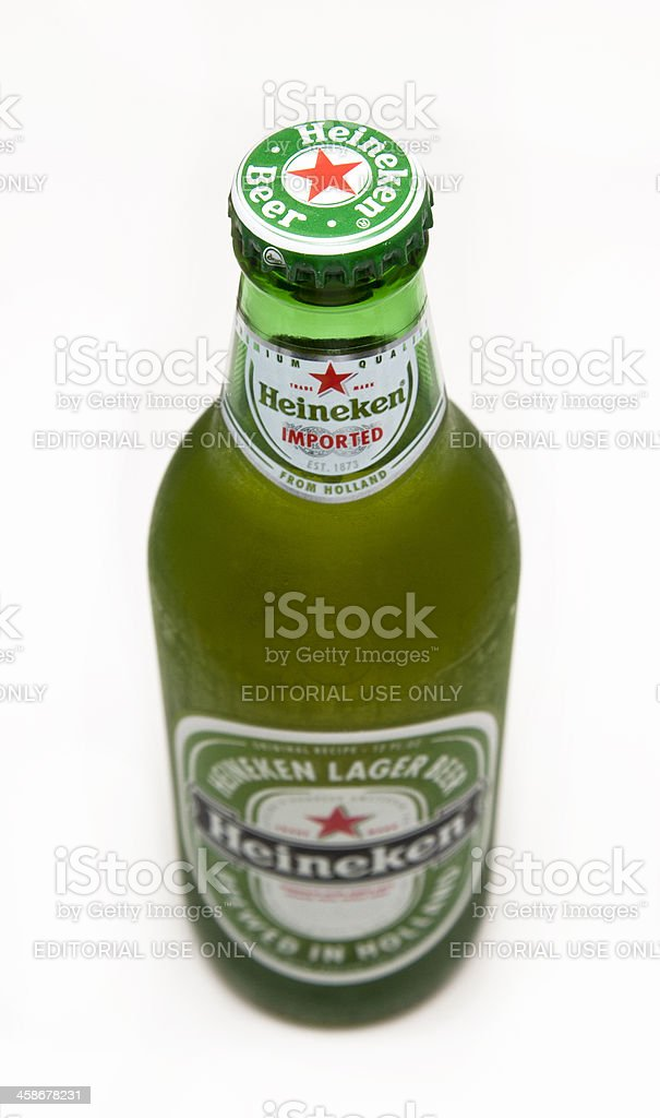 Heineken Beer Bottle royalty free stockfoto
