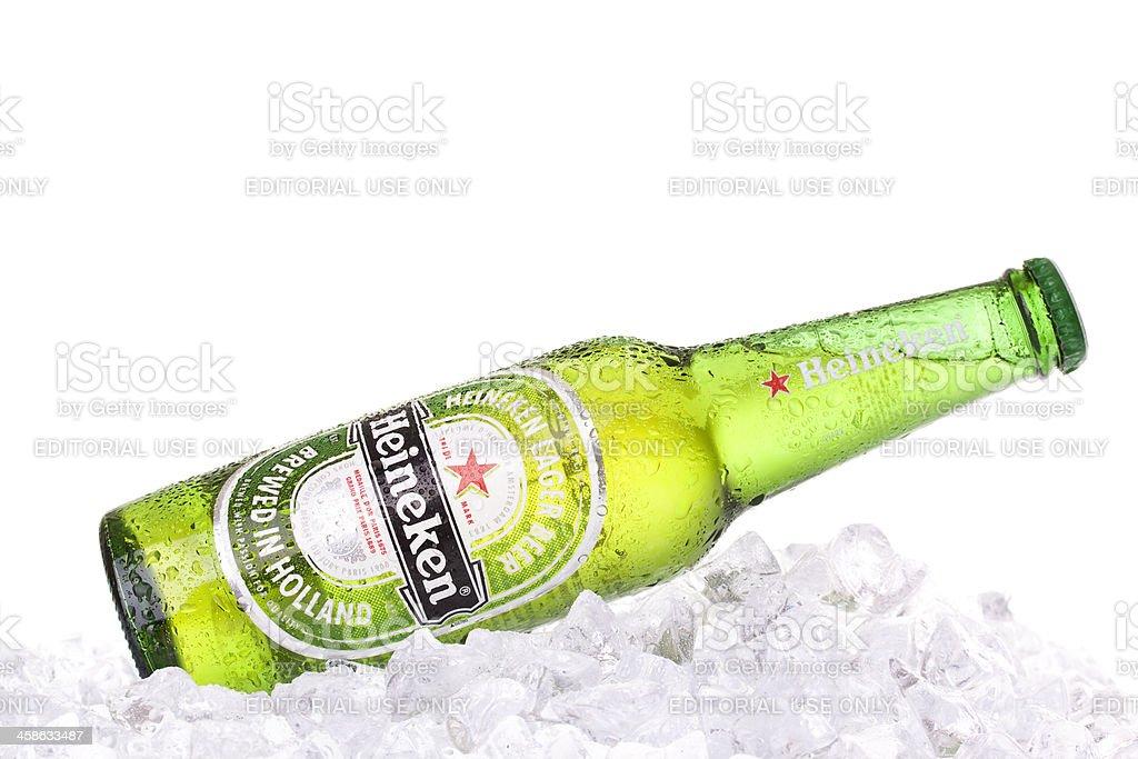 Heineken Bottle on ice