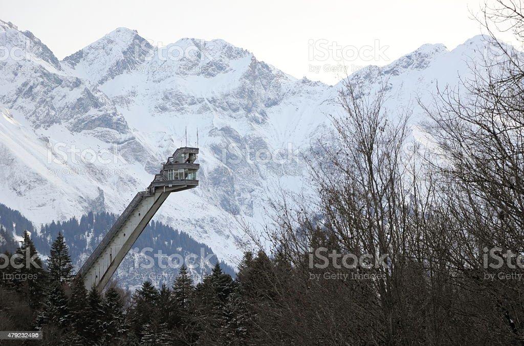 Heini Klopfer ski flying hill. Oberstdorf, Bavaria, Germany. stock photo