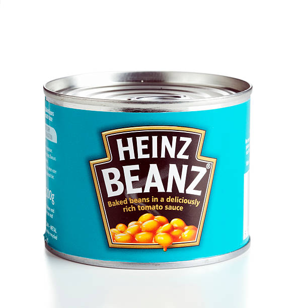 heinz baked beans can - heinz stock photos and pictures