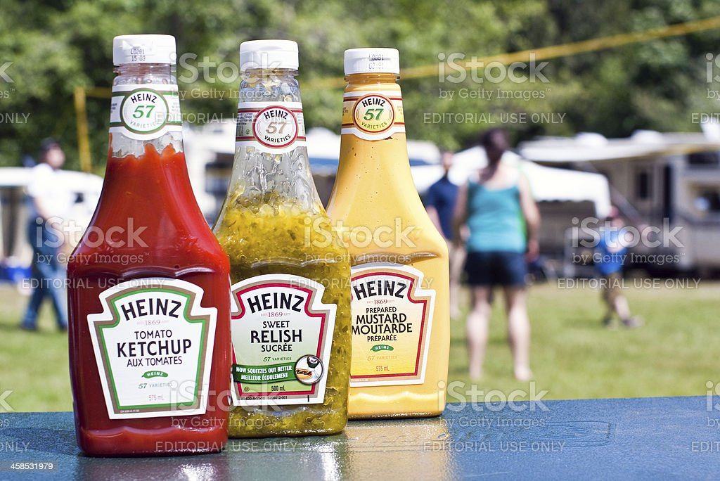 Heinz Condiments stock photo