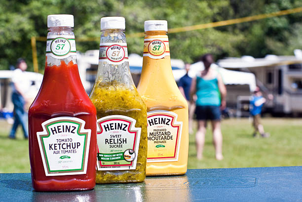 heinz condiments - heinz stock photos and pictures