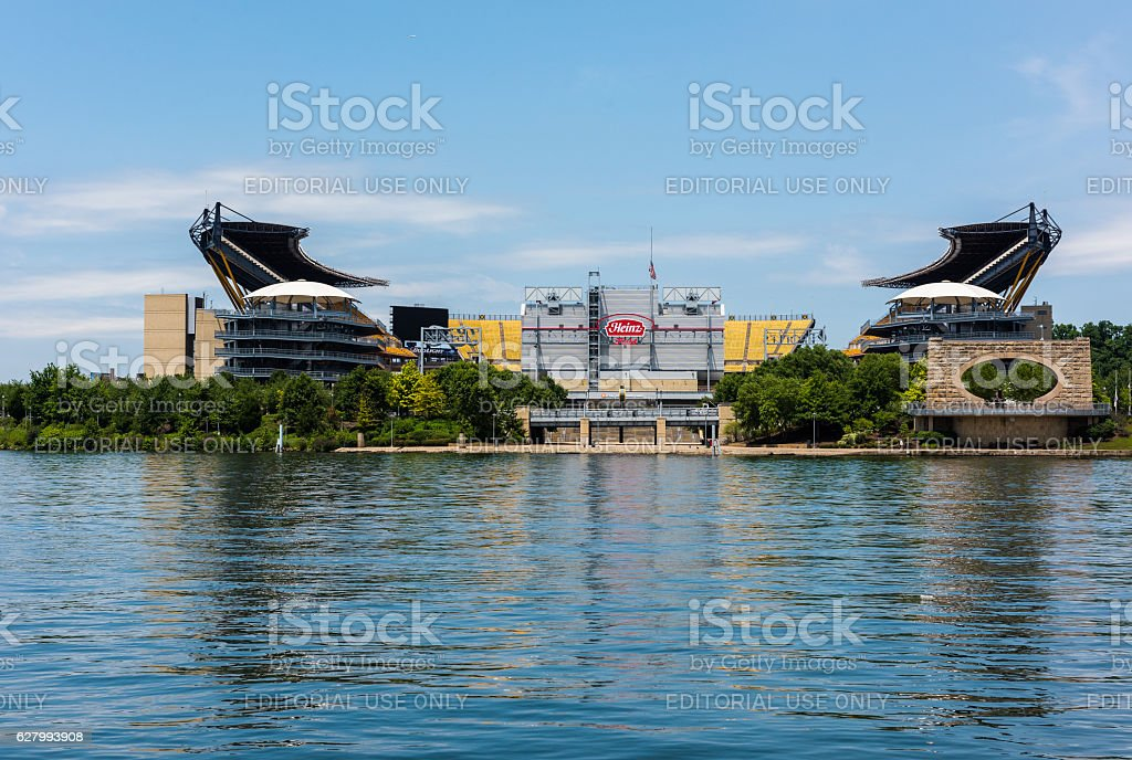 Heinz Field, home of the Pittsburgh Steelers in Pittsburgh, PA stock photo