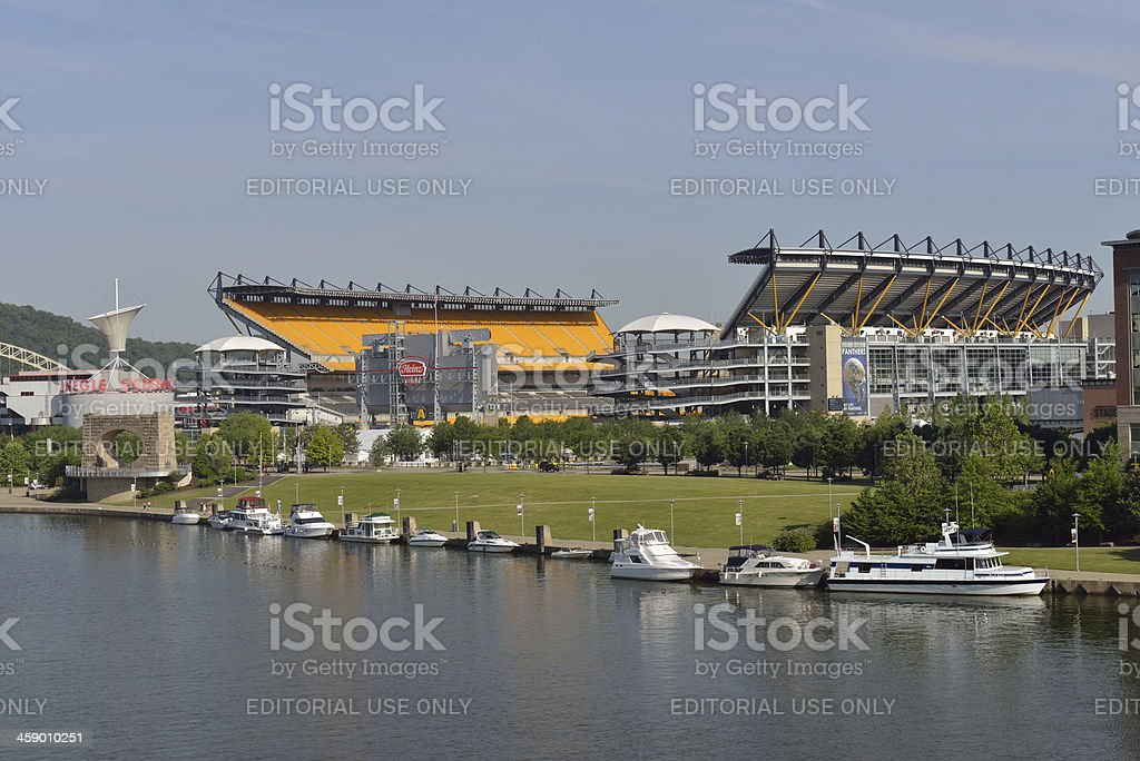 Heinz Field Stadium in Pittsburgh stock photo