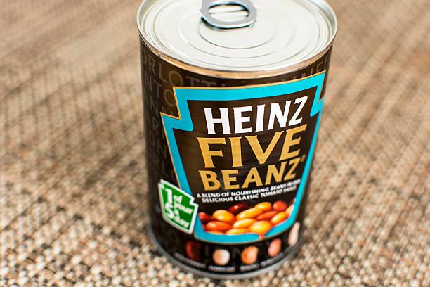 heinz five beanz - heinz stock photos and pictures