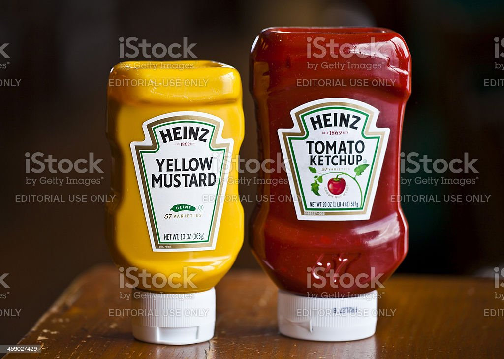Heinz Ketchup and Mustard stock photo