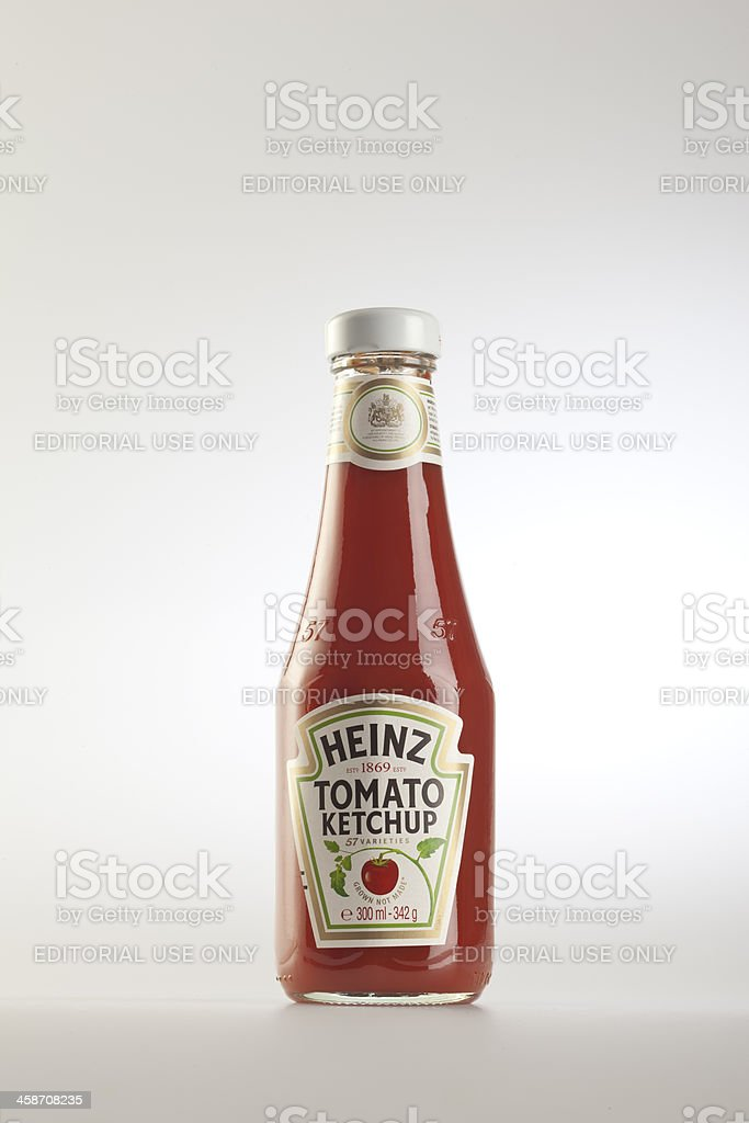 Heinz Ketchup Glass Bottle stock photo