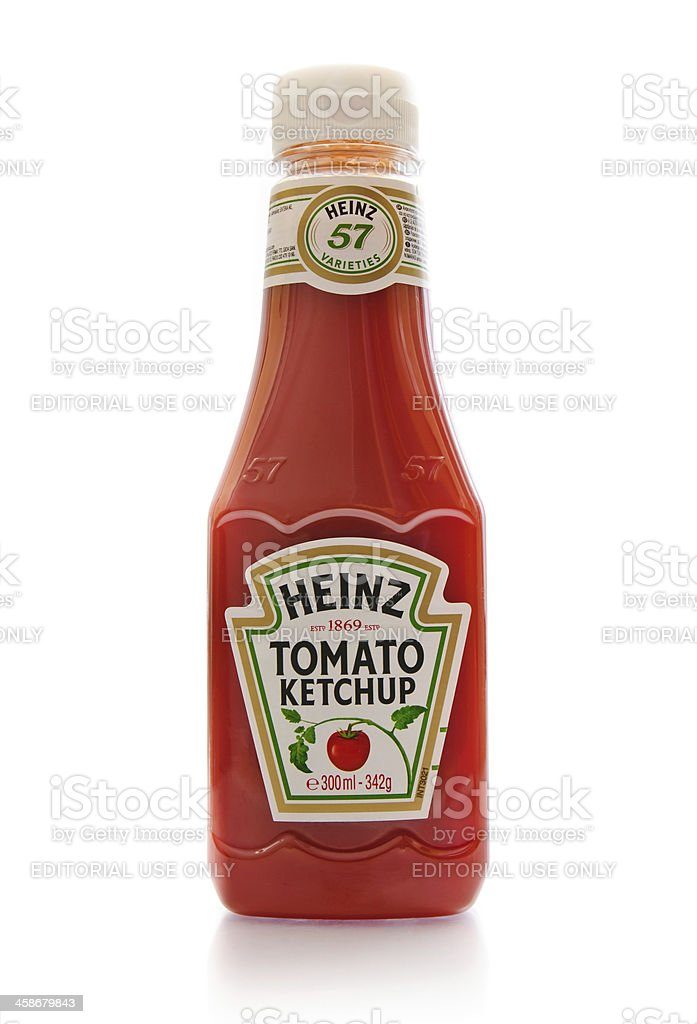 Heinz ketchup stock photo