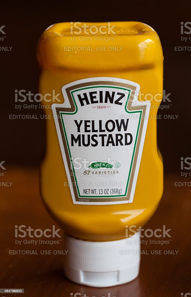Heinz Mustard stock photo